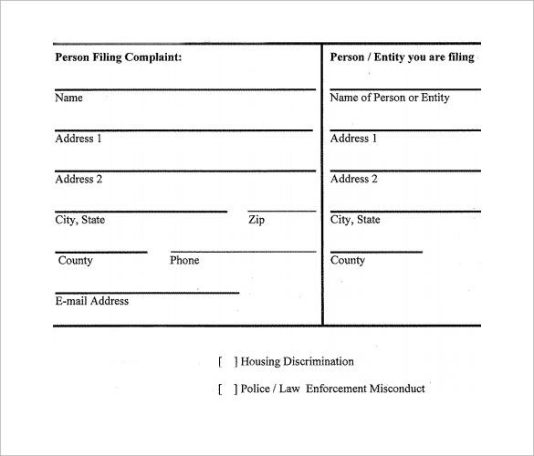 Civil Complaint Template. 15+ Complaint Letters Templates,12+