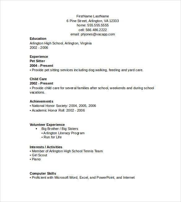 Sample Resume Simple Format. Simple Resume Format Sample For