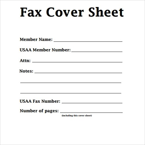 Sample Fax Cover Letter – Blank Fax Cover Sheet Template