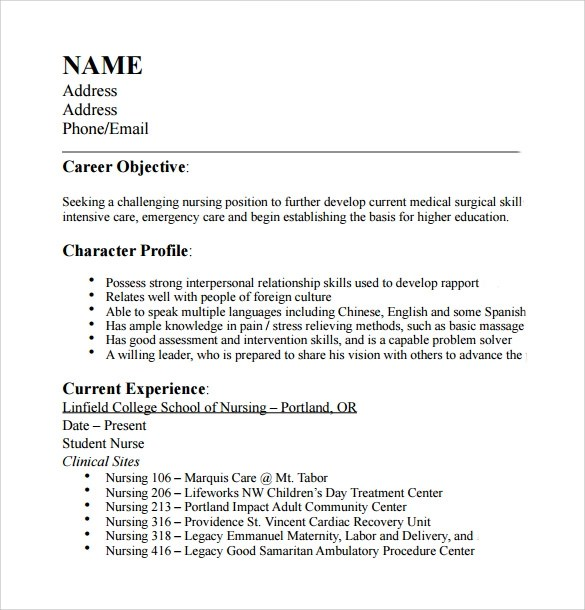 Certified Nursing Assistant Sample Resume. Cna Resume Samples
