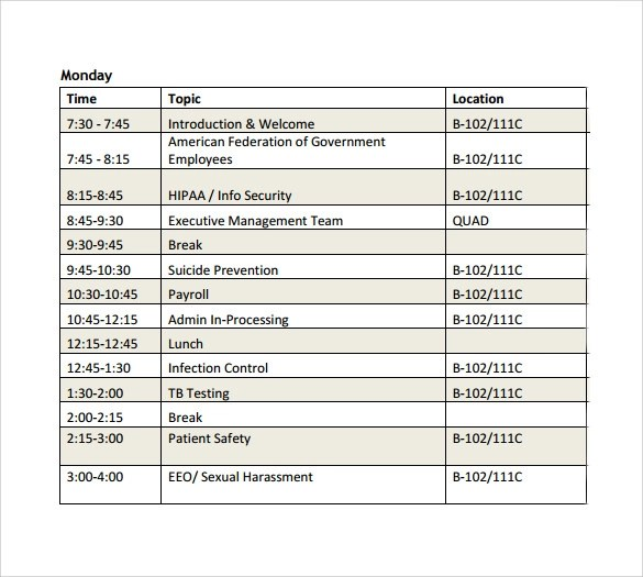Sample Conference Schedule 10 Documents In Pdf Word