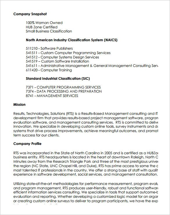 14 Capability Statement Templates Pdf Word Pages