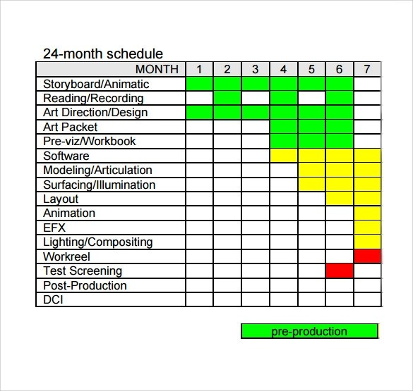 12 Production Schedule Templates Free Sample Example Format