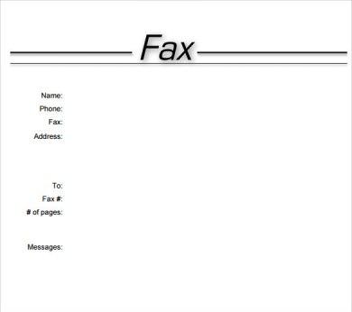 printable fax cover sheet template word 2007 radiotodorock.tk