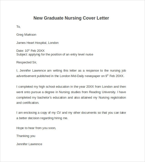 Registered Nurse Cover Letter Sample cakepins com
