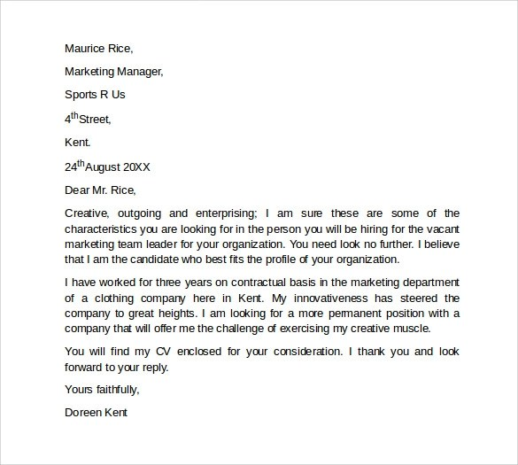 Sample Marketing Cover Letter Template 9 Download Free Documents In PDF Word