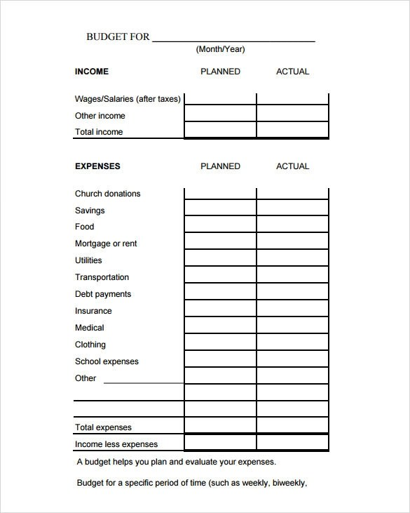 9 Sample Budget Calculators Sample Templates