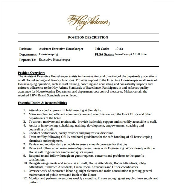 Housekeeping Resume In Hotel. Housekeeper Resume Examples Samples