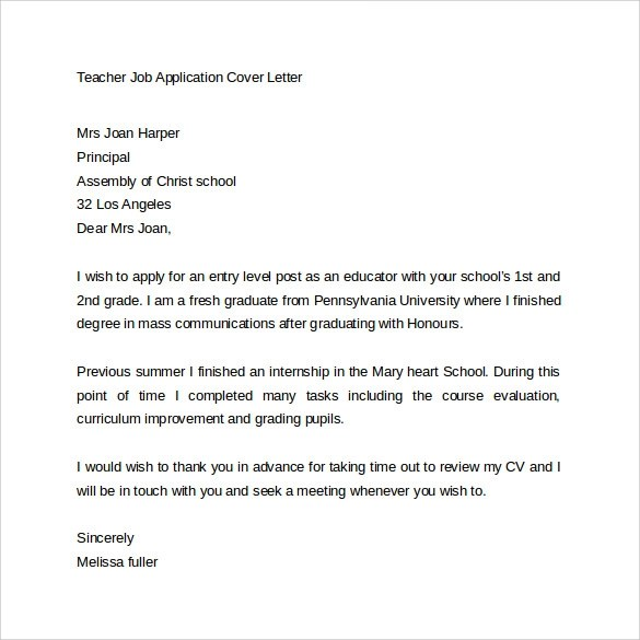 Letter asking for job application letter of introduction for Cover letter seeking employment opportunities
