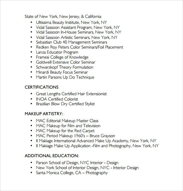 Beginner Hair Stylist Resume Examples. Upload My How To Make A Job