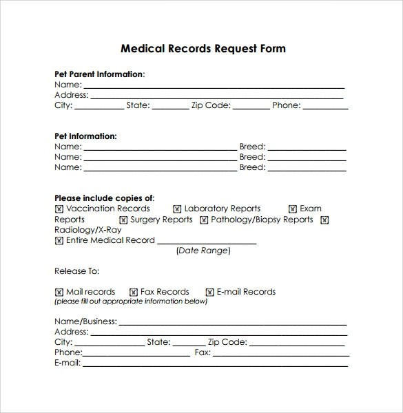 Examples Of Medical Records Request Letter | Docoments Ojazlink
