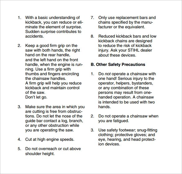 Sample Safety Manual Template 9 Free Documents In PDF