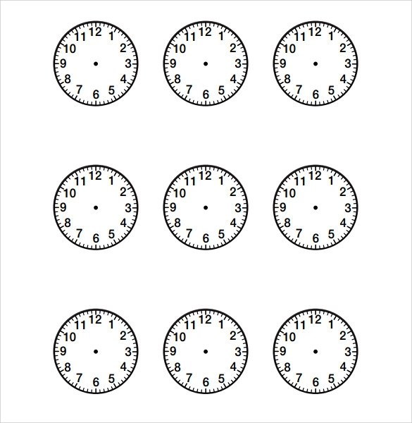 Free 11 Sample Clock Face In Pdf Ms Word