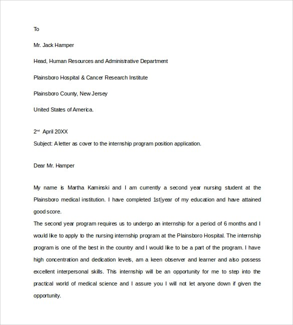 9 documents in pdf word sample nursing student cover letter