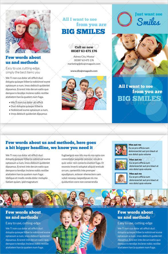 17 Kindergarten Brochures Vector EPS PSD Vector Illustrator