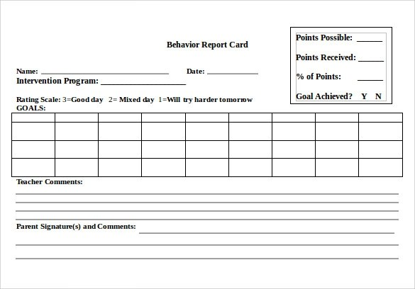 14 Progress Report Card Templates Docs Word Pdf Pages