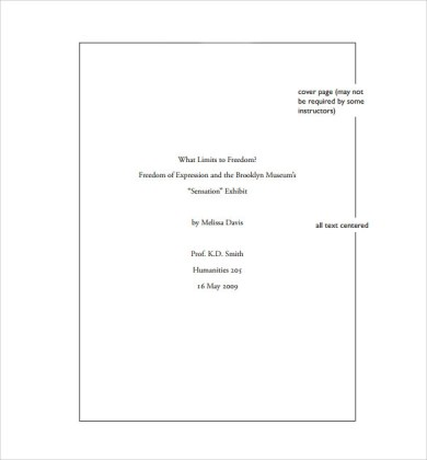 mla cover page template