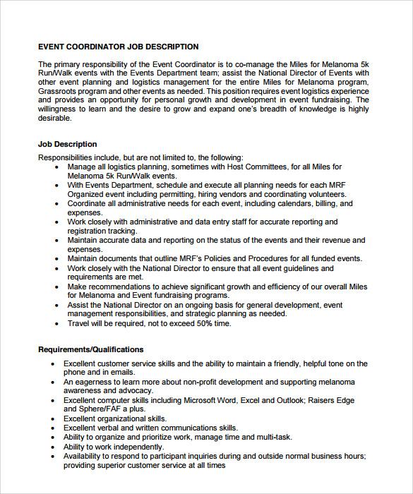 event coordinator resume event planner resume resume event