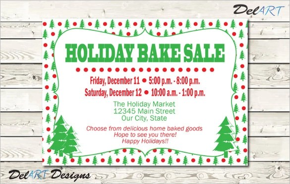 holiday flyer template free