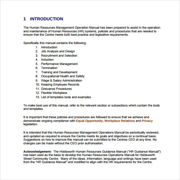 Operational Manual Template policies and procedures sop – Sample Operations Manual Template