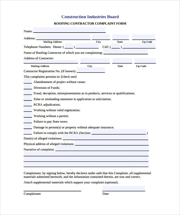 Sample Roofing Contracts - FREE DOWNLOAD