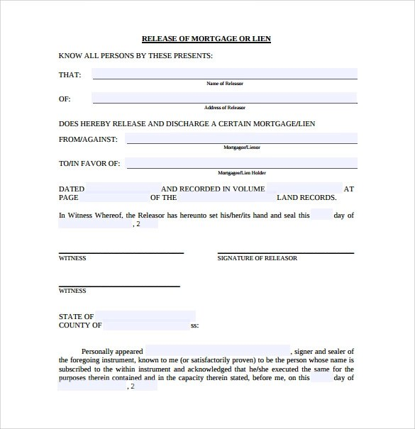 Doc8651122 Blank Mortgage Form Sample Mortgage form Blank – Blank Mortgage Form