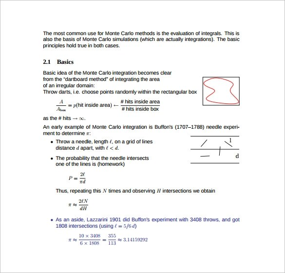 Sample Monte Carlo Simulation Template 11 Free Documents In PDF Word