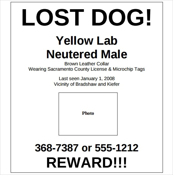 doc 14031984 missing reward poster template missing person