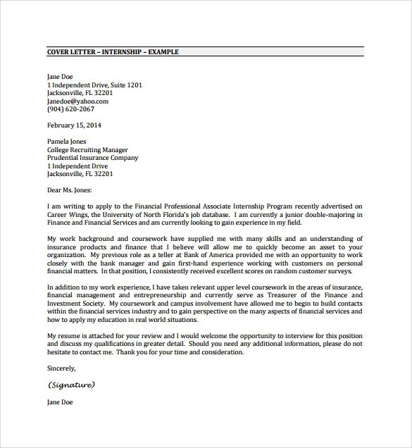 Sample Cover Letter Example 24 Download Free Documents In