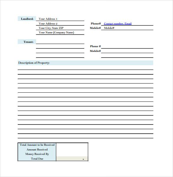 Doc25503300 Rental Receipt Form Rent Receipt 79 Similar – House Rent Bill