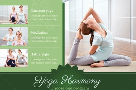 21  Yoga Flyer Templates   Sample Templates Harmony Yoga Flyer Template