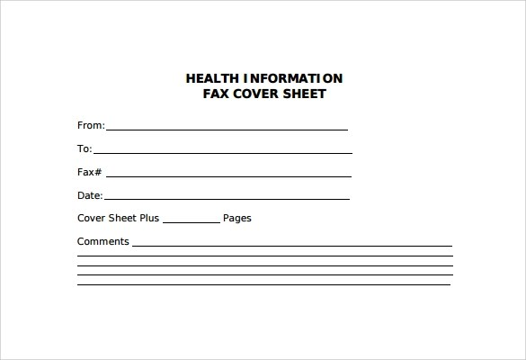 Sample Fax Cover Sheet 27 Free Documents In PDF Word
