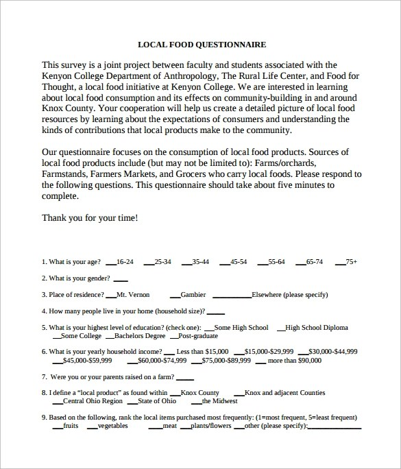 Questionnaire Template Free. Free Printable Raffle Tickets Receipt