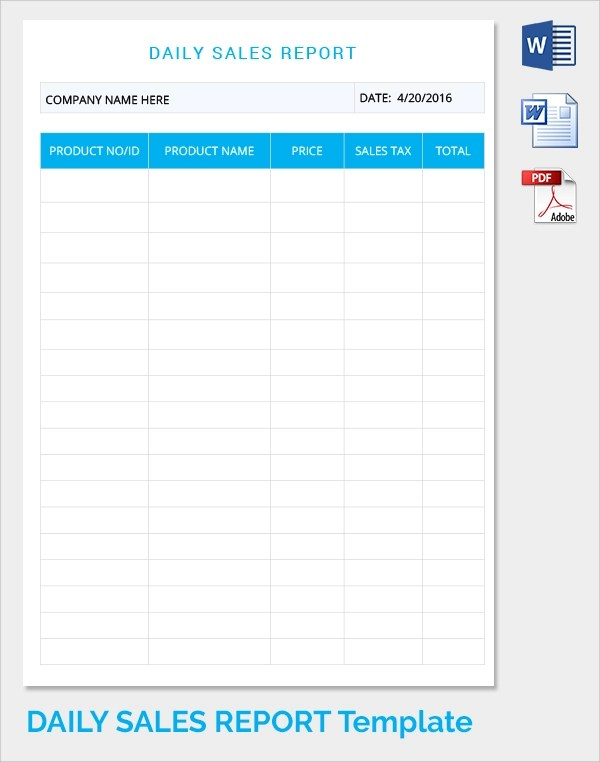 21 Daily Work Report Templates Sample Templates
