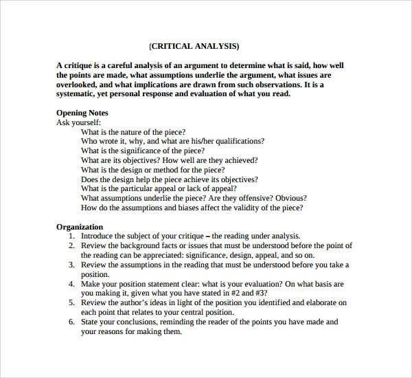 critical analysis sample essay completed courses resume thesis theme ...