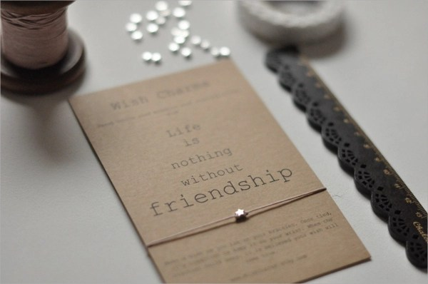 7 Friendship Card Templates Sample Templates