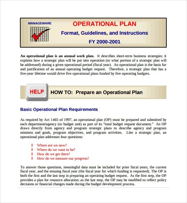 Business plan operations for Law enforcement operations plan template