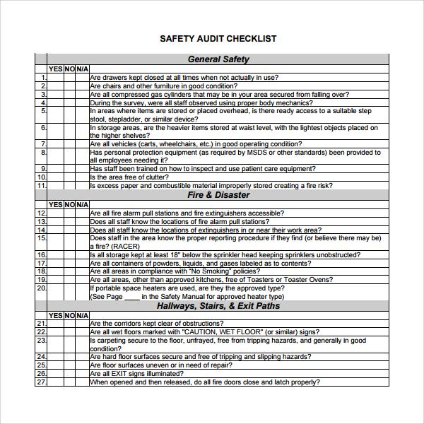 Warehouse 5s Checklist
