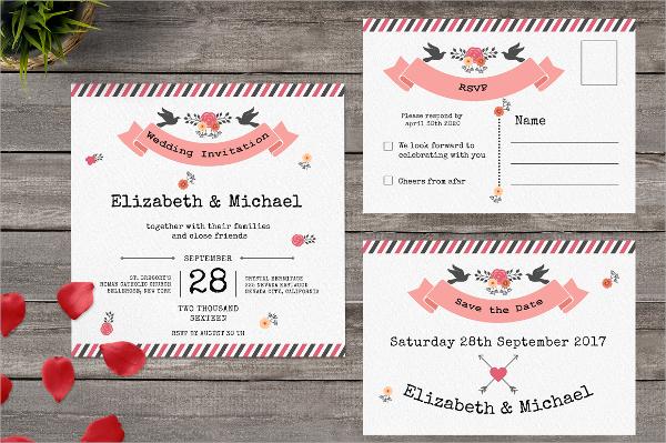 sample postcard invitation template 9 doents in psd - Postcard Wedding Invitations