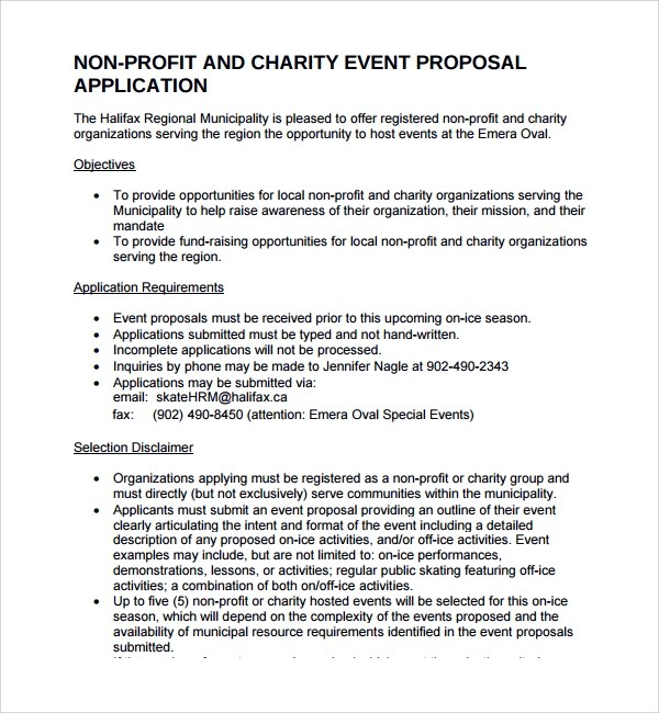 charity proposal charity proposal 10 fundraising proposal template – Charity Proposal