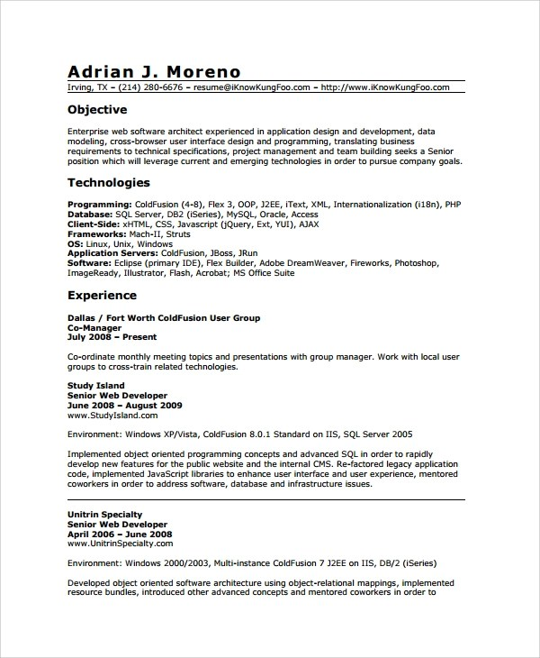 Homework Help - Bryant Library resume of and ohio and oracle dba ...