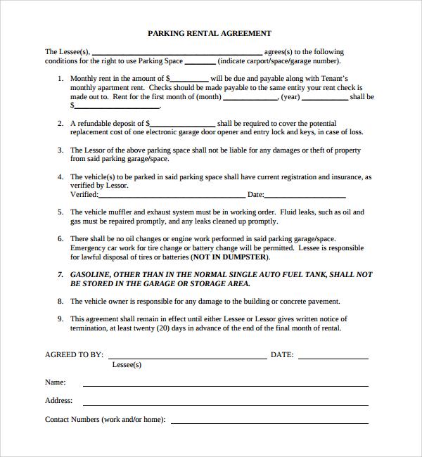 Free Word Pdf Rental Agreement Free Rental Lease Agreement