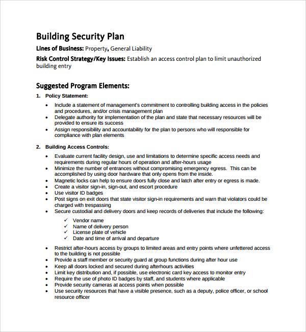 Event Security Template