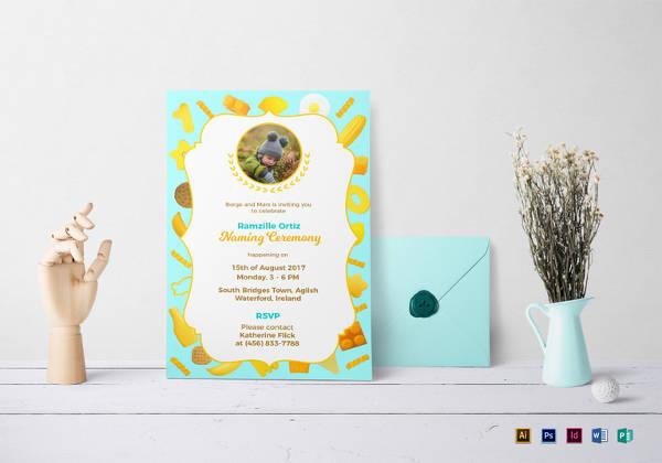 naming ceremony invitation templates in