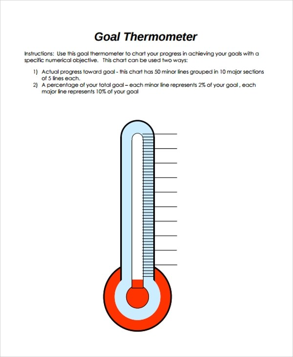 sample thermometer templates in pdf
