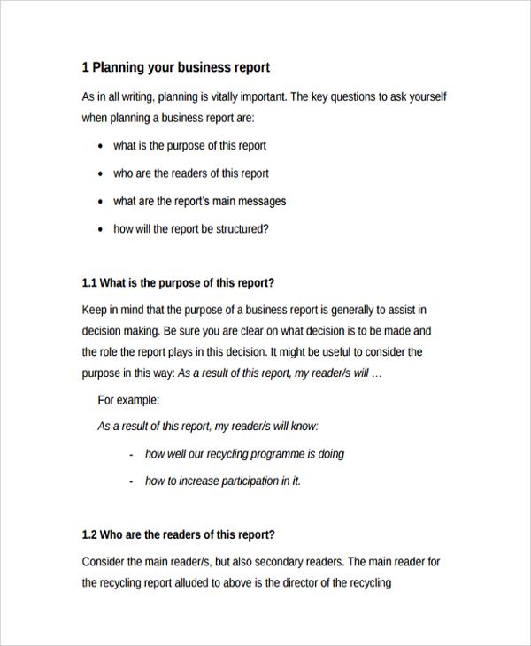 Appendices business plan