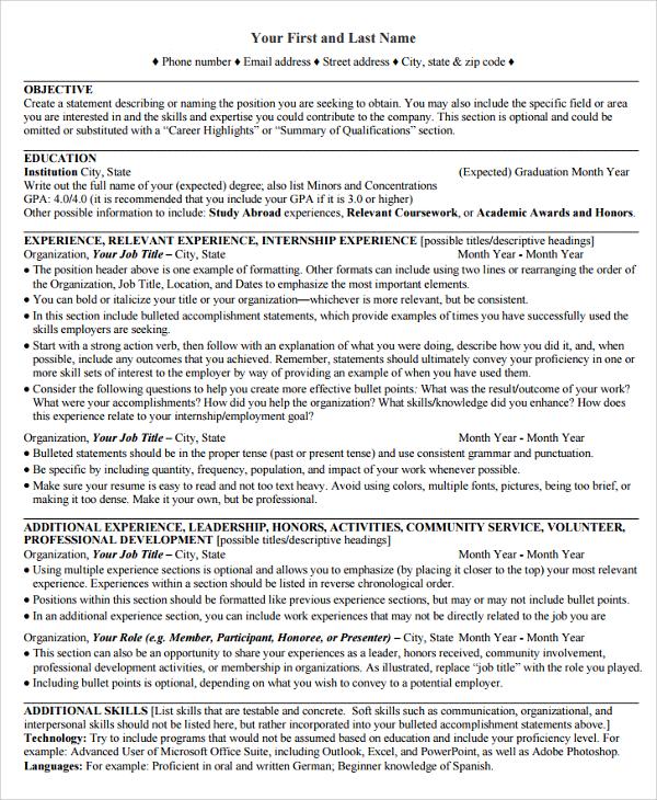 Sample College Graduate Resume Examples. Recent College Graduate