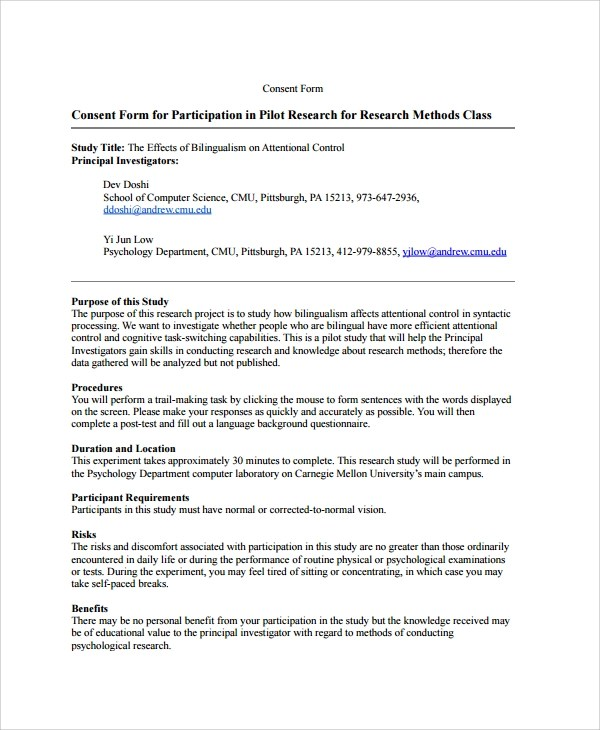 Consent Form For Research   Find And Download Free Form Templates And  Tested Template Designs. Download For Free For Commercial Or Non Commercial  Projects, ...