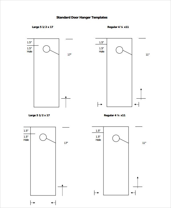 Sample Promotional Door Hangers Templates 6 Free