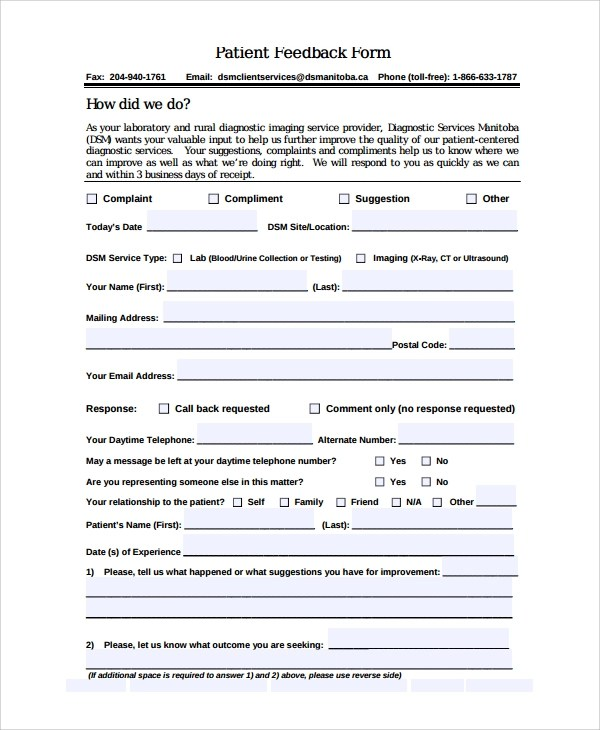 Customer Acceptance Form Template